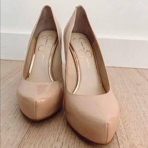 Nude heels -Jessica Simpson, 6.5